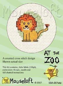 Mouseloft Lion At The Zoo cross stitch kit